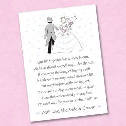 25 x wedding poem cards for your invitations ask politely for money gift ebay