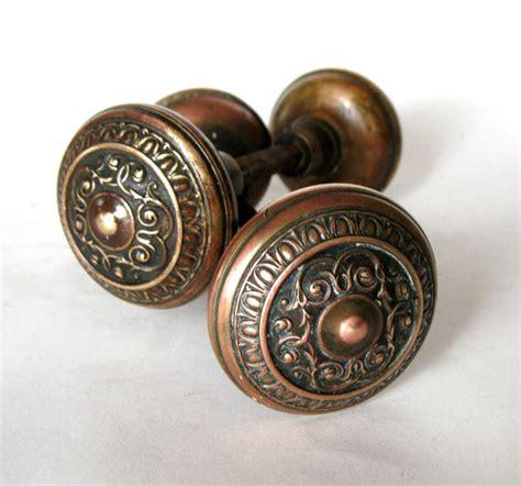 Copper Door Knob by Antique Door Knobs Set Of Copper Door Knobs By