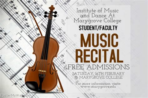 music recital poster template postermywall