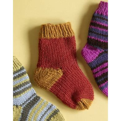 pattern socks brand knit child s two color socks in lion brand wool ease