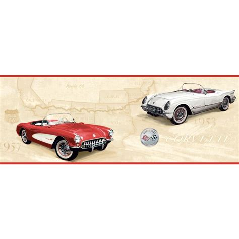 corvette wallpaper border york wallcoverings inspired by color corvette rte 66