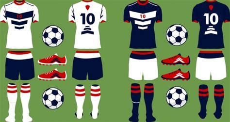 Simbol Vektor Baju sepak bola seragam ikon set berbagai warna warni desain flat vektor icon vektor gratis