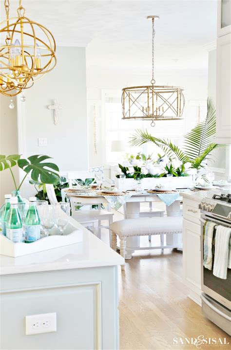 coastal kitchen decorating ideas for sand and sisal