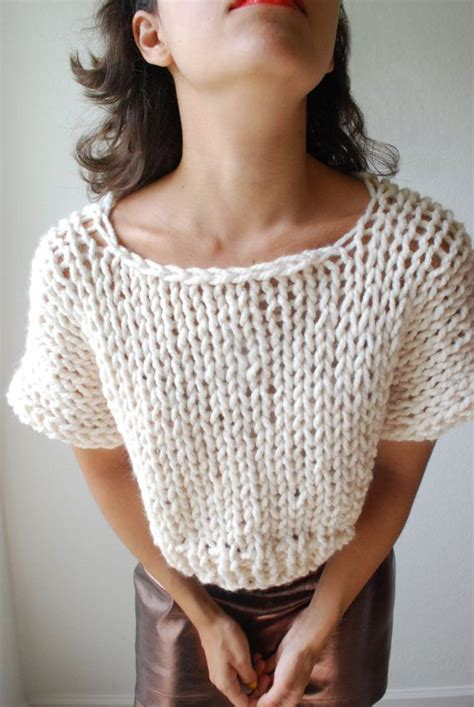 knit crop top pattern the soho crop top sweater knit in fisherman par