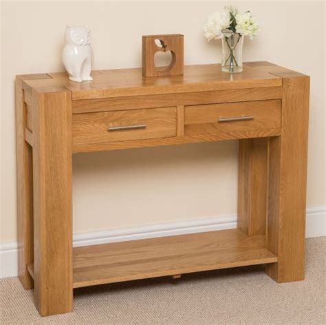 Tesco Console Table Buy Kuba Chunky Solid Oak 2 Drawer Console Table From Our Console Tables Range Tesco