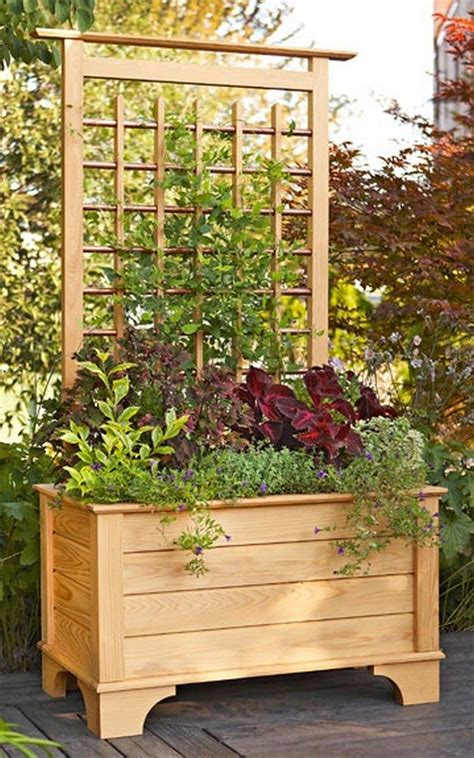 Old Kitchen Cabinet Ideas how to build a planter with privacy screen diy projects