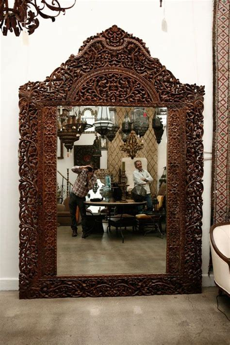 mirror 9 8 giant hand carved anglo indian