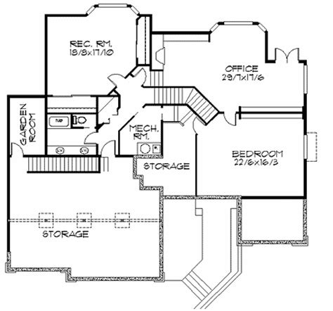 frank lloyd wright inspired home plan 85003ms 1st