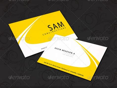 construction business card templates 25 construction business card template psd and indesign