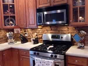 Brick Kitchen Backsplash by Faux Brick Backsplash Kitchen Home Design Ideas