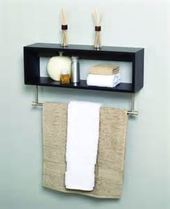 Bathroom Wall Shelf For Towels Cool Black Metal Wooden Towel Shelf On Light Blue Bathroom