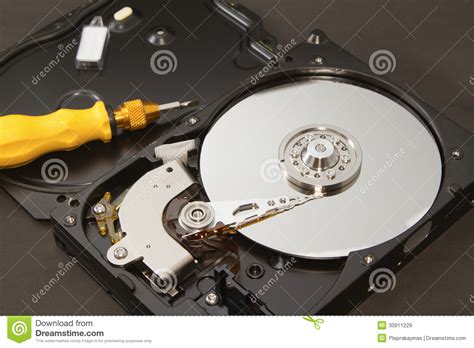 Repair Harddisk open drive for repair royalty free stock images