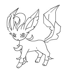 pokemon coloring pages of leafeon leafeon lineart by skipper2820 on deviantart
