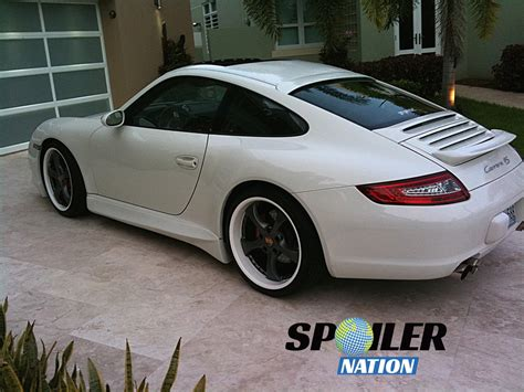 porsche spoiler 2006 2011 porsche 997 turbo coupe tuner rear window spoiler
