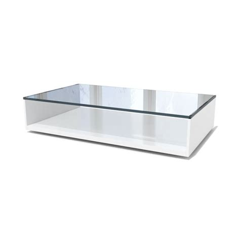 White Glass Coffee Table White Glass Coffee Table 3d Model Cgtrader