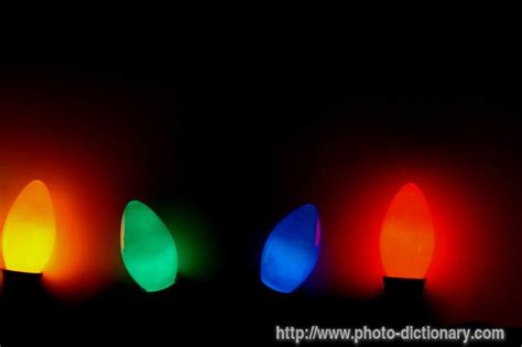christmas tree lights photo picture definition at photo
