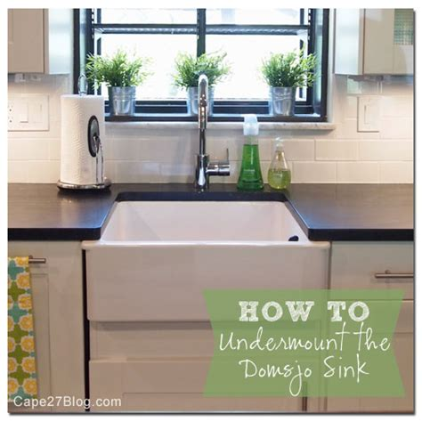 Ikea Kitchen Sink Installation How To Undermount Ikea S Domsjo Sink
