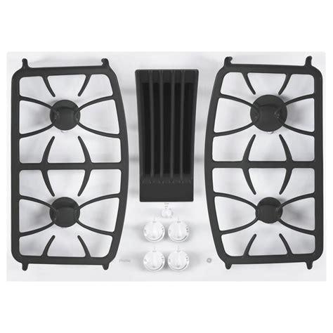 cooktop downdraft ge profile 30 in radiant electric downdraft cooktop in