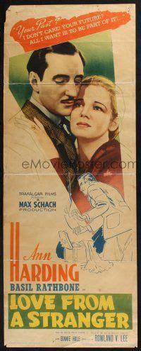 film love from a stranger emovieposter com 3w622 love from a stranger insert 37 c