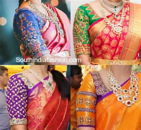 muthu pattern works maggam work wedding blouse designs south india fashion