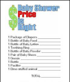 free printable price is right baby shower template 15 entertaining baby shower pretty my