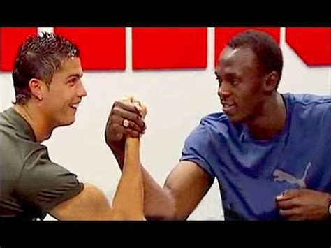 usain bolt weighs in on messi ronaldo and the ballon dor cristiano ronaldo usain bolt 100m youtube