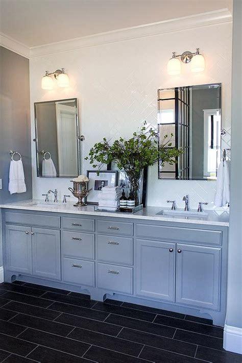pottery barn bathroom vanity mirrors bathroom with white subway tile herringbone tile