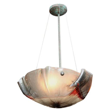 Blown Glass Ceiling Lights An Italian Blown Glass Ceiling Light At 1stdibs