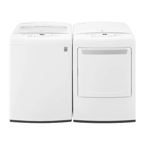 laundry lowes lg appliances wt1501cw dle1501w washer and dryer set