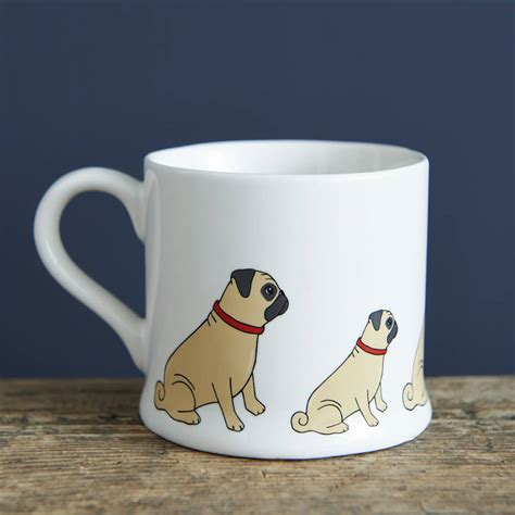 mugs of pugs pug mug by sweet william designs notonthehighstreet