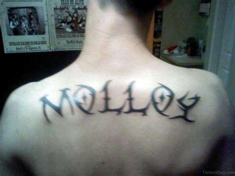 last name tattoo on back 66 cool lettering tattoos for back