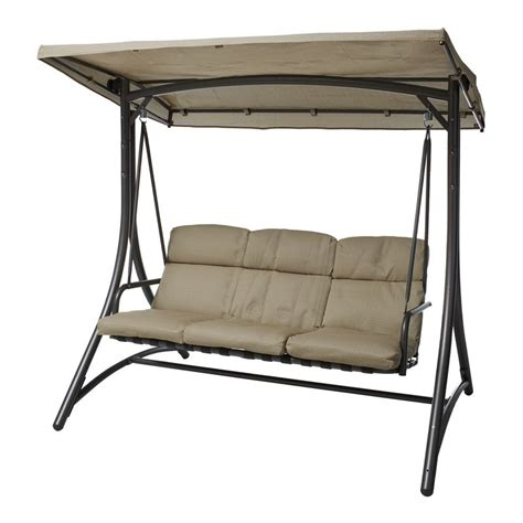 bunnings swings marquee 3 seater mirage delta steel swing seat 299