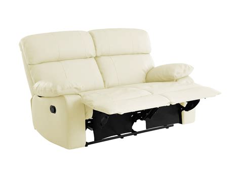 cream leather reclining sofa choose your fabric