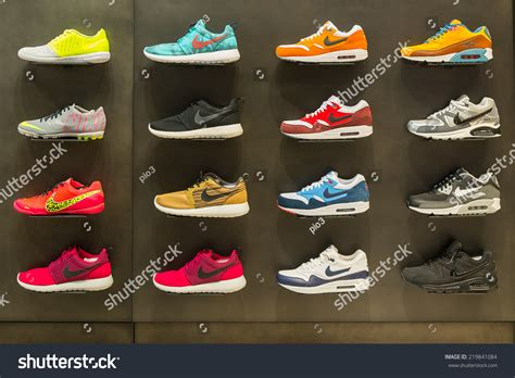 the athletic shoe shop bologna italy september 26 2014 exposition of nike