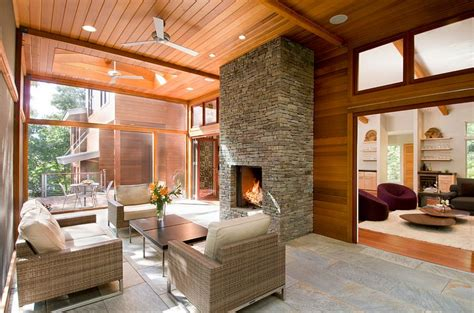 sunroom with fireplace 50 contemporary sunrooms with charming spaces