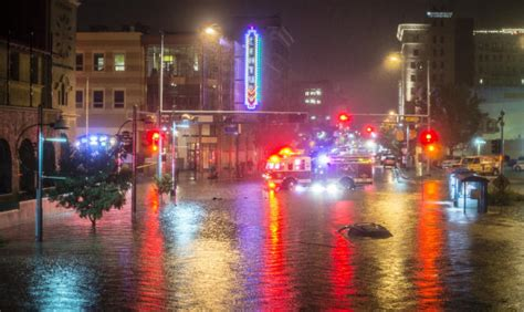 floods hit new mexico towns more storms eyed krqe news 13 storm floods downtown albuquerque cuts railrunner service