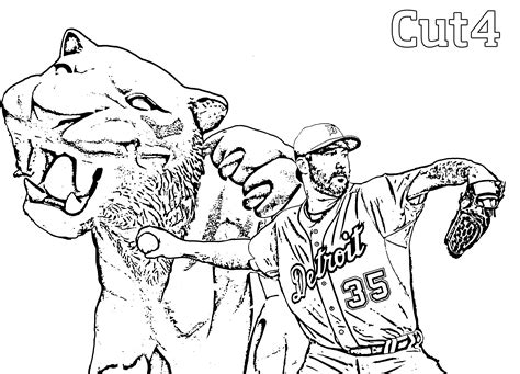 detroit tigers coloring pages coloring home