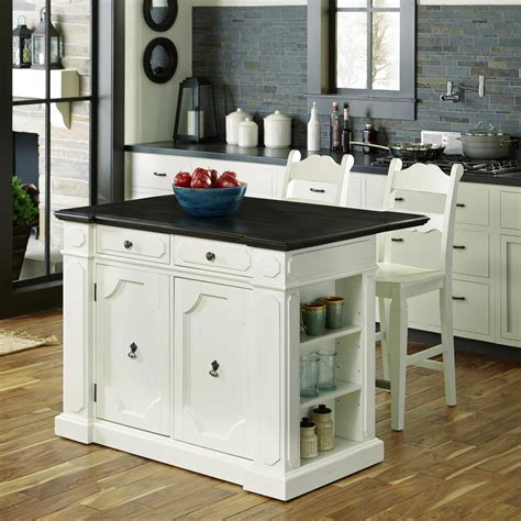 kitchen island furniture with seating home styles americana white kitchen island with seating 5002 948 the home depot