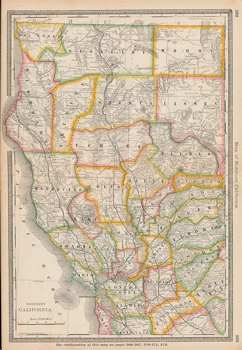 northern usa map and antique prints and maps usa northern california