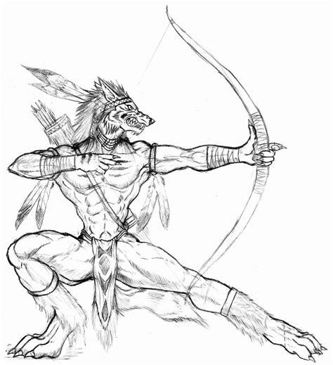 werewolf archer by wolflsi on deviantart