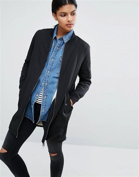 Noisy May Longline Bomber Jacket coats jackets ootd magazine