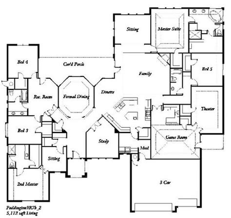 five bedroom floor plan manchester homes the paddington 5 bedroom floor plan