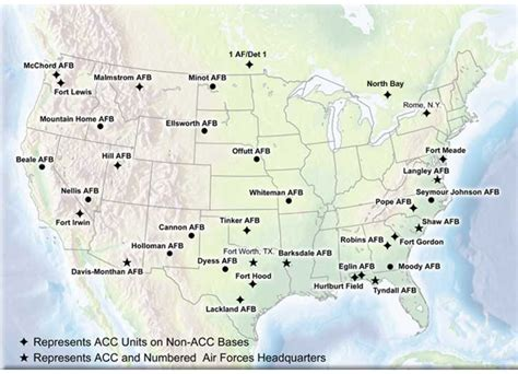 map usaf bases air combat command