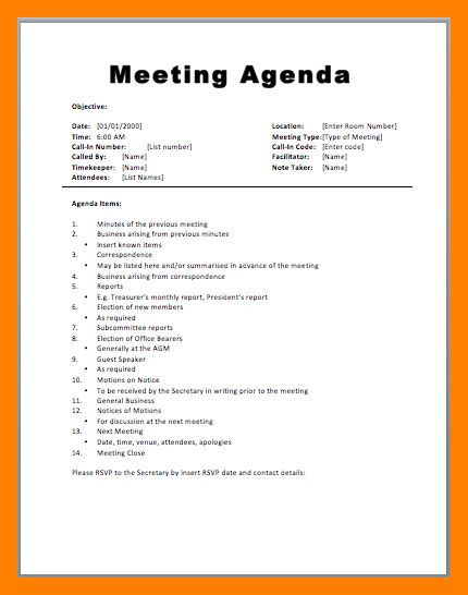 what is an agenda 11 how to write a meeting agenda emt resume
