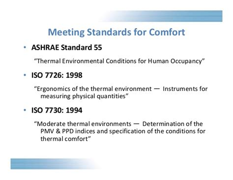 iso 7730 thermal comfort commercial building science comfortable environments