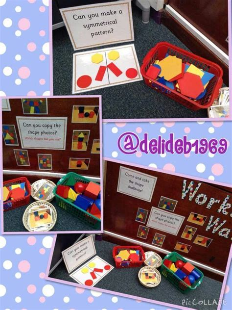 shape pattern games eyfs 2d and 3d shapes maths continuous provision pinterest