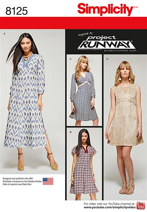 pattern runway review simplicity simplicity pattern 8125 misses project runway