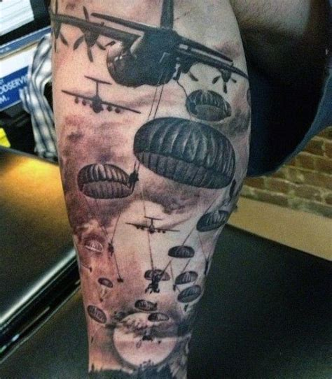 parachute tattoo designs 30 airborne tattoos for ink design ideas