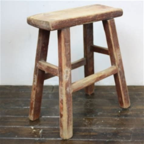 rustic wooden stool l65 lovely and company