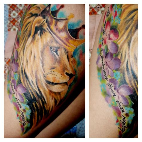 watercolor tattoo texas amazing thigh done by josh j whitt whitten in